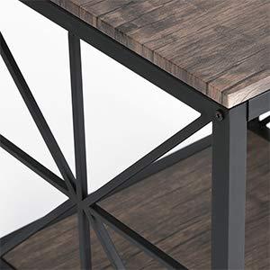 Aingoo Mesa Auxiliar X-Design Sofá Industrial Mesa Lateral de ...