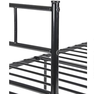 Aingoo Cama de Metal Estructura Cama Individual para jóvenes en Color Negro 90 x 190 cm