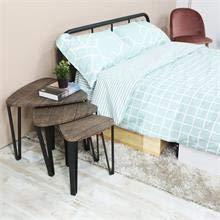 Aingoo Nido de 3 mesas Mesa de centro de madera Mesa de mesa de ...