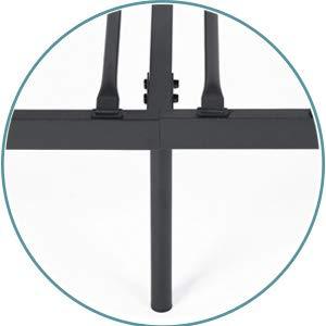 Aingoo Sofá Cama Individual Marco de Cama de día Cama para Invitados para niños Se Adapta a un colchón de 90 * 190 cm, Negro