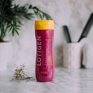 LOTIGÉN – Champú anticaída natural con Ginkgo Biloba y vitaminas. Evita la caída del cabello y favorece el crecimiento del cabello – 300 ml