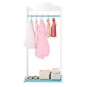 Labebe 3-en-1 Perchero Niña Rosa, Perchero de Ropa de Bebé en Madera para Niñas DE 2-5 Años, Perchero Bebé/Perchero Infantil/Perchero Clothes