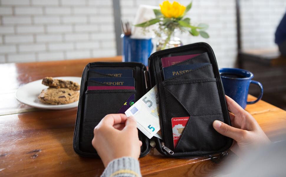 Una cartera de viaje para toda la familia