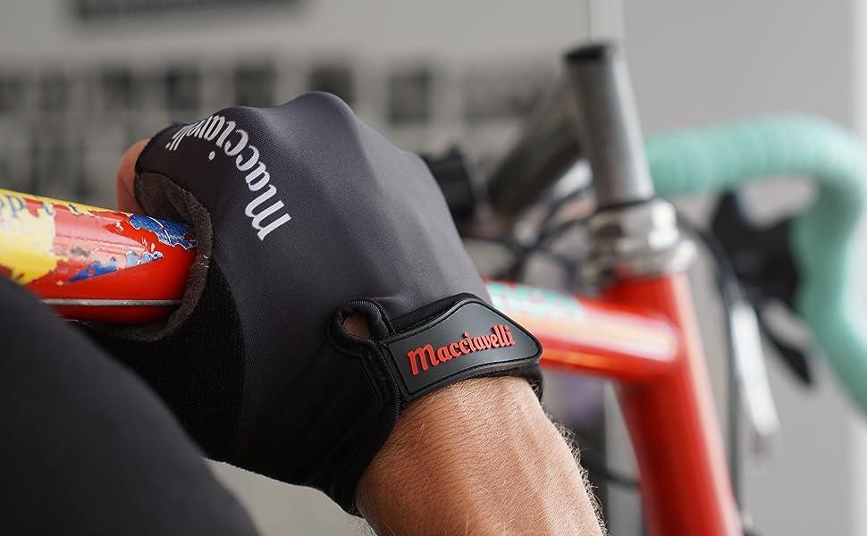 MACCIAVELLI - Guantes de Ciclismo | Guantes MTB de Medio Dedo | Adecuado para Bicicleta de Carretera y de Montaña - Guantes Bici para Hombres y Mujeres: Amazon.es: Deportes y aire libre