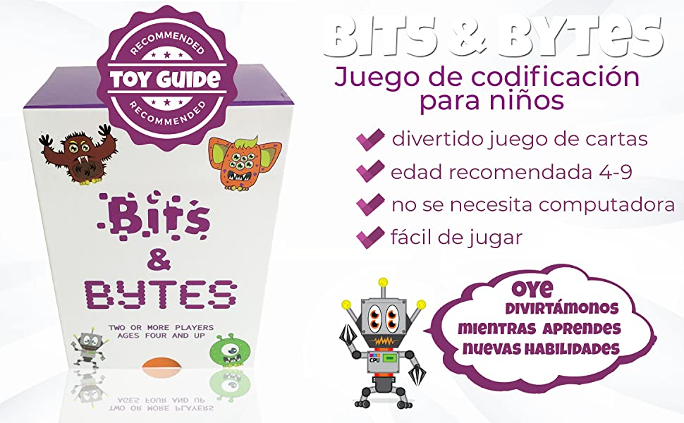Bits & Bytes, el juego de codificación para niños | El innovador juego de cartas y el juguete STEM que enseña a los niños los aspectos básicos de la ...