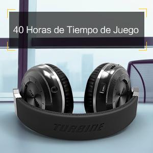 Bluedio T2S Auriculares Bluetooth Cascos inalámbricos con micrófono Plegable para moviles iPhone Samsung Smartphone iOS Android y Microsoft (Negro)