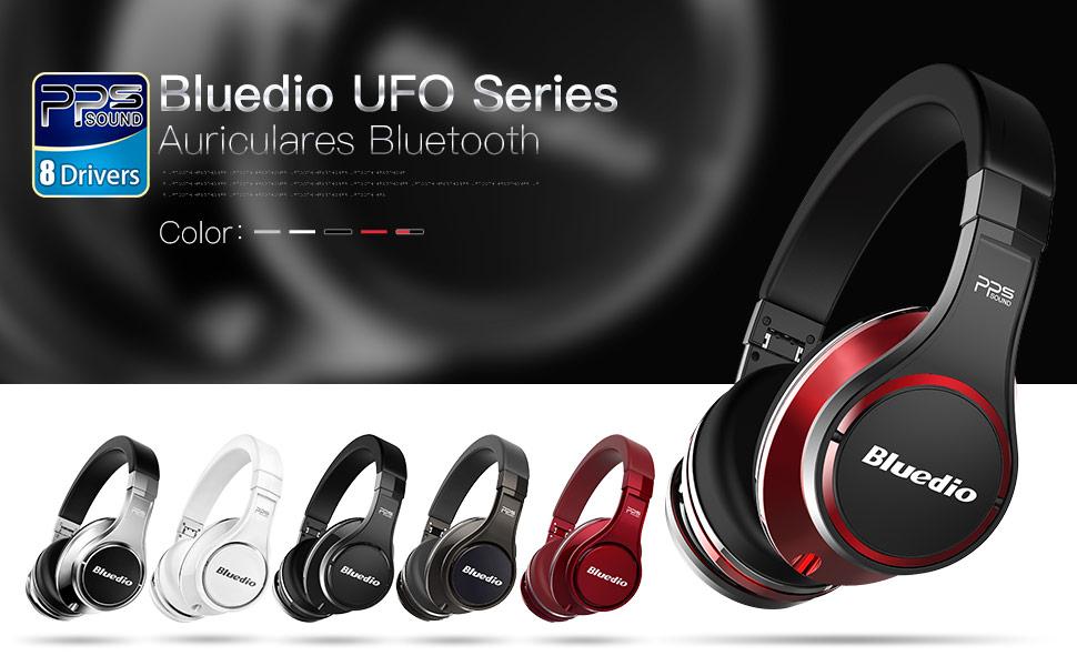 Bluedio U (UFO) auriculares de diadema bluetooth PPS 8 con micrófono integrado y ocho altavoces