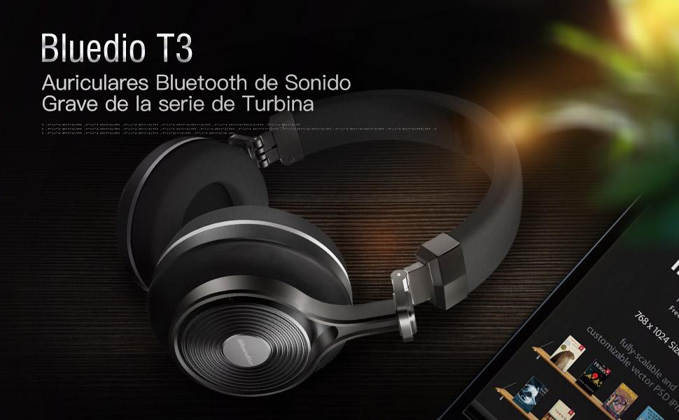 67bfddcd422 Bluedio T3 ( Turbine 3rd ) auriculares bluetooth de diadema cascos  inalámbricos plegables con microfono efecto 3d estereo
