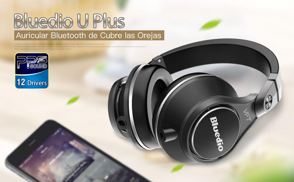 Bluedio U Plus (UFO) Pro auriculares inalámbricos bluetooth Extra Bass cascos de diadema PPS12