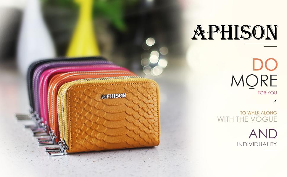 APHISONUK Cartera para Mujer RFID Bolsa de Moda Cuero ...