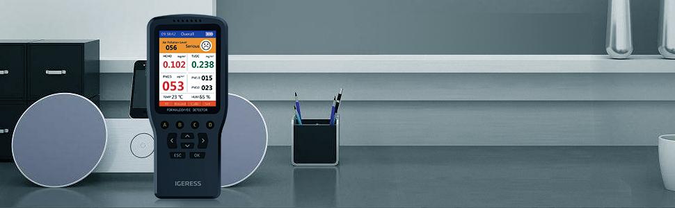monitor de aire monitor de calidad del aire interior detector de contaminación del aire HCHO TVOC