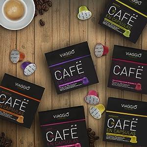 café en cápsulas compatibles con Nespresso, Intenso, Espresso, Ristretto