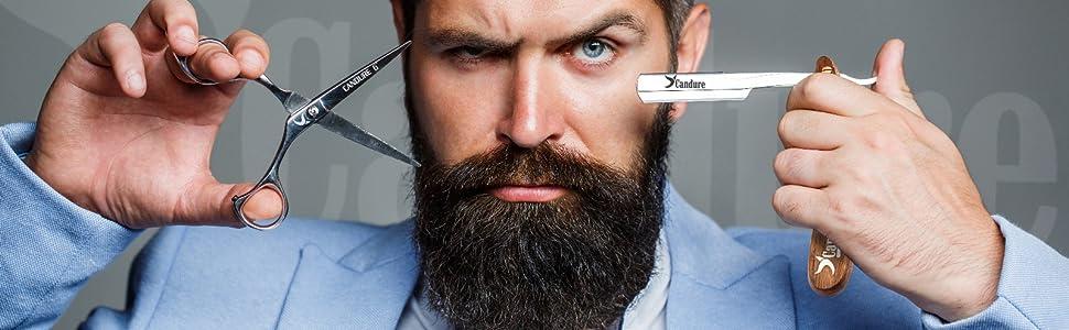 maquinilla de afeitar recta profesional para hombres, peluquería, corte de afeitar, afeitadora