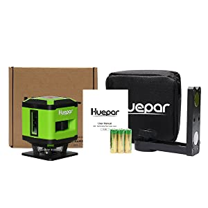Nivel Huepar FL360G Pro Verde Tile Láser Nivel láser de nivelación de piso