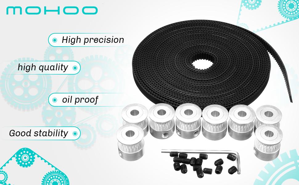 MOHOO GT2 Correa dentada 5M + 8 piezas Polea ----------