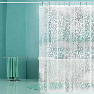 blanco, 180 x 230 cm resistente al agua duradera cortina de ducha de tela cortina de ba/ño wiipara Cortina de ducha textil lavable cortina de ba/ño con 12 cortinas de ducha