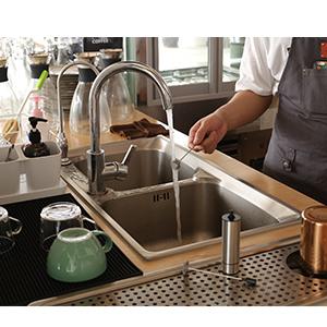 Espumador de leche electrico Sedhoom Batidor de leche de Acero Inoxidable Cabeza doble del batidor de la primavera Espumador de cafe Latte Cappuccino
