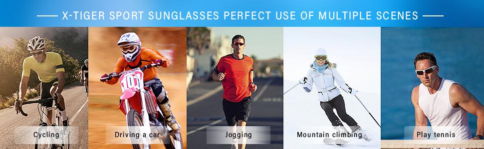 Gafas Ciclismo polarizadas 3 Lentes UV 400 Gafas Deportivas,Corriendo,MTB Bicicleta Montaña TR-90