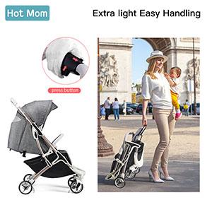 Hot Mom Sillas de paseo de bebe cochecito ligero adecuado para viajar