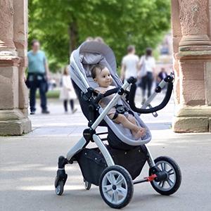Hot Mom Multi cochecito cochecito 2 en 1 con buggy 2018 nuevo diseño, Asiento para bebé vendido por separado - Grey