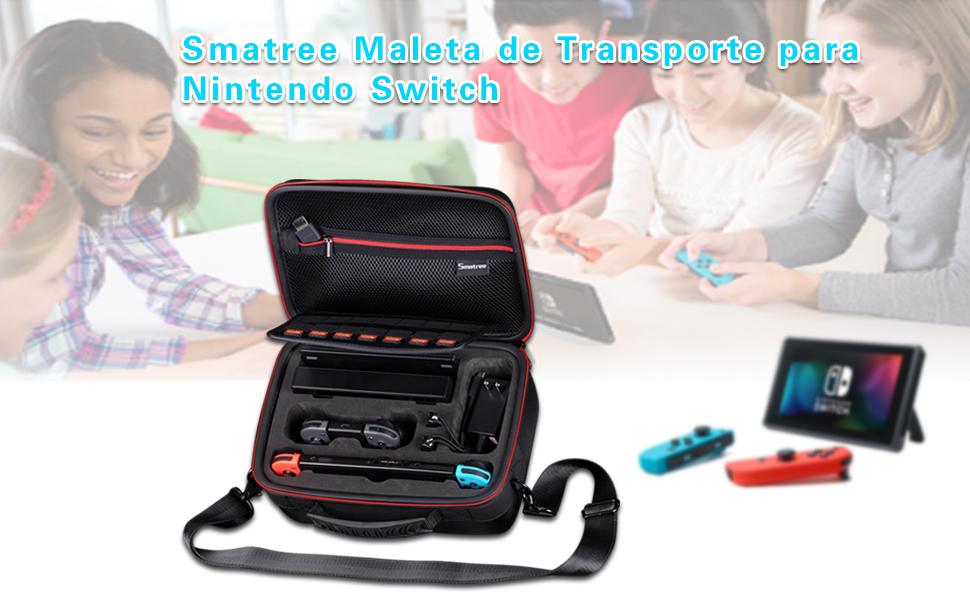 Funda para Nintendo Switch, Smatree Funda Carcasa Rígida de Viaje ...