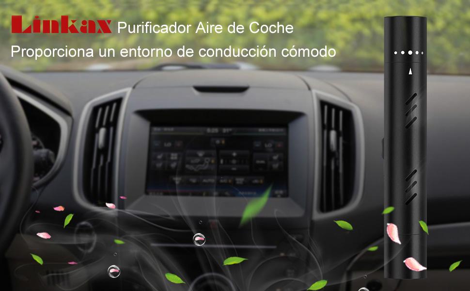 Linkax Ambientador Aire Coche Purificador de Aire Difusor de Coche Aromaterapia Coche Desodorante del Vehículo con 5 Palos de Aroma sólido para Viaje, Oficina Elimina el Humo: Amazon.es: Bricolaje y herramientas