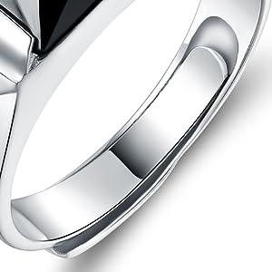12b9b59b1f01 JiangXin Caballero Anillos hombre plata de Ley 925 ajustable Regalo ...
