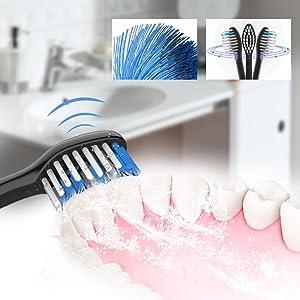 Cepillo dental sónico con motor patentado de suspensión magnética