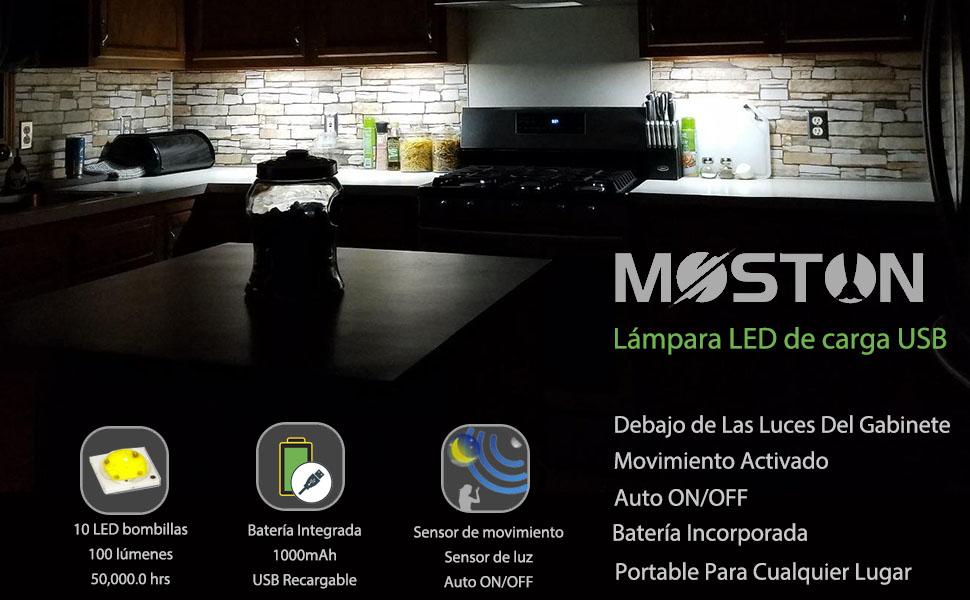 La luz nocturna del sensor de movimiento magnético inteligente (ENCENDIDO / APAGADO) mejorado de MOSTON está diseñada para reemplazar la lámpara de pared ...