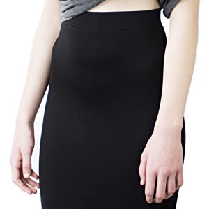 LACHERE Falda Negra Corta | Stretch | Cintura elastizada: Amazon ...