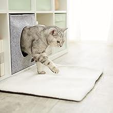 frazada manta colcha cobertor cueva gruta hueco gato gatos