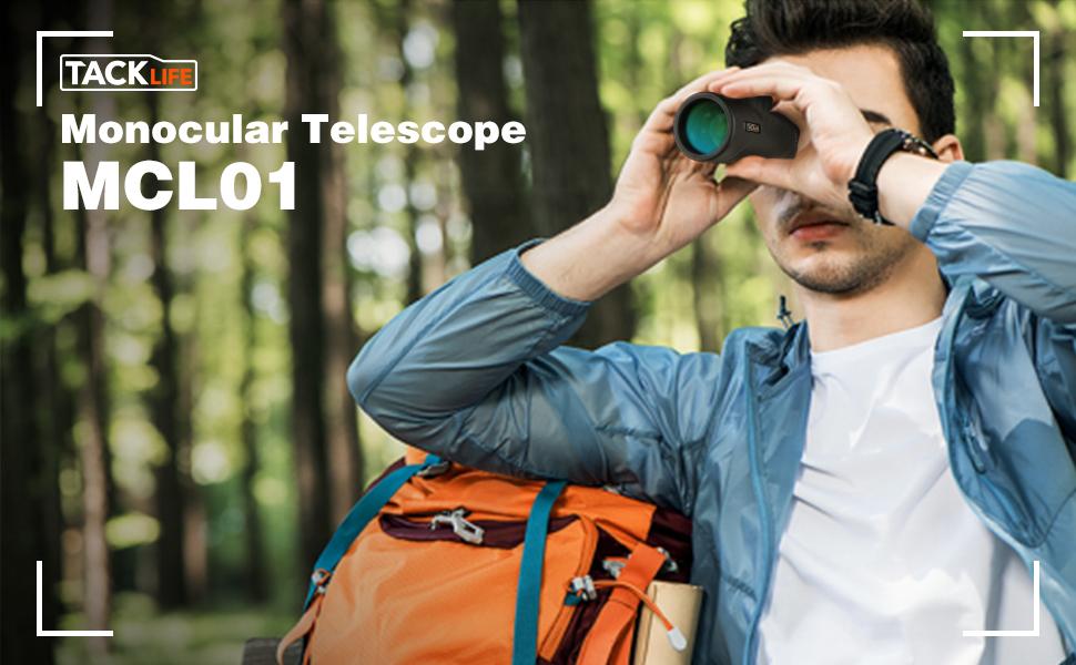 Telescopio monocular, TACKLIFE MCL01 Monocular 10 x 42, Lentes ...