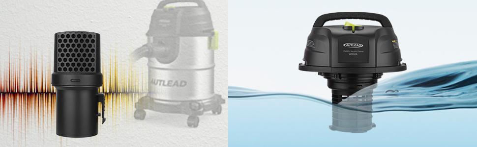 Aspirador dom/éstico con funci/ón de soplado Silenciador 1000W 20 L Aspirador de usos m/últiples de Acero Inoxidable AUTLEAD Aspirador Seco H/úmedo