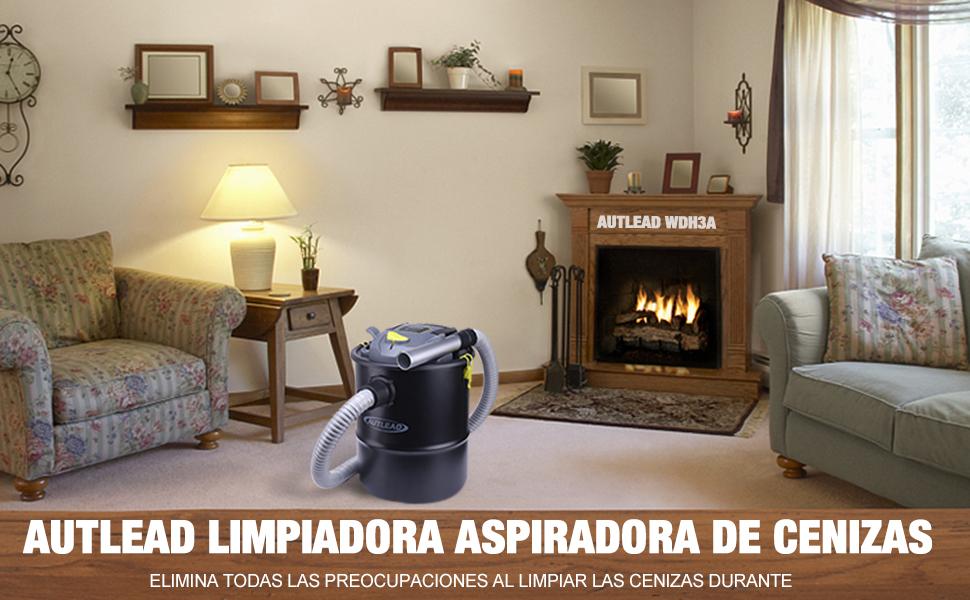 AUTLEAD Aspiradora de Cenizas, 15L 900W Aspiradora para Chimeneas ...