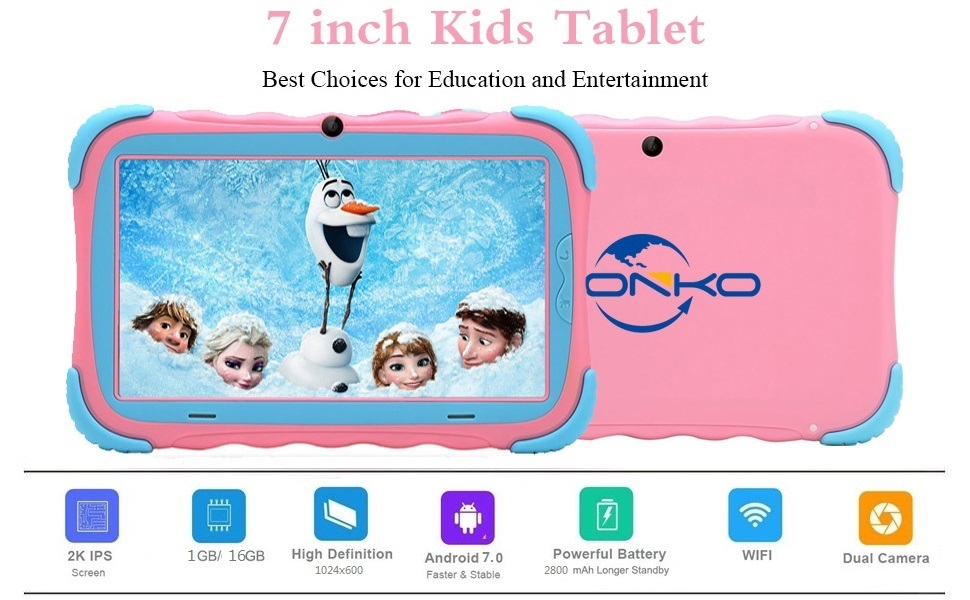 7 Pulgadas Android 7.1 Tablet para niños IPS HD Screen 1GB/16GB Babypad Edition PC con WiFi y Cámara y Juegos Google Play Store Bluetooth Compatible ...