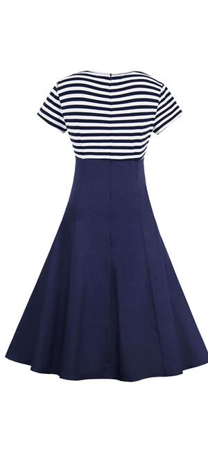 El vestido material es algodon y spandex,vestido es el diseño definido de la cintura y la longitud de la rodilla,hay un cierre de cremallera oculta en la ...