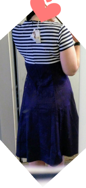 Color: Rojo vino/Azul marino/Negro Elementos Populares: Diseño rayado Classico Longitud de la manga: mangas cortas. Longitud de los vestidos: Rodilla- ...