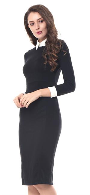 Kenancy Mujeres Elegant Vestidos Lápiz Casual Mangas Cortas ...