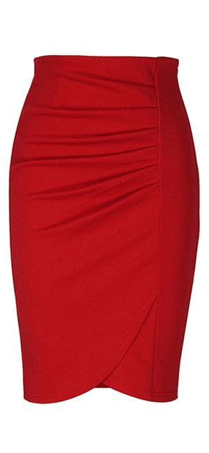 79dbf1b381 Kenancy Mujer Faldas Largas de Tubo Elegante Cintura Alta Elástico  Atractiva Falda de Lápiz Danza Bodycon S - 2XL