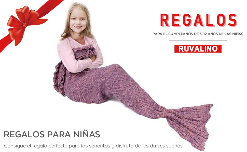 Cola de Sirena Manta para los regalos de cumpleaños, RUVALINO dulces ...