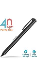 iPad Lápiz Capacitivo Activo , 40 Horas de Juego y 30 Dias de Tiempo de Espera · Lápiz de iPad, Tiempo de Trabajo de 40-HR Tiempo de Espera de 30 días ...
