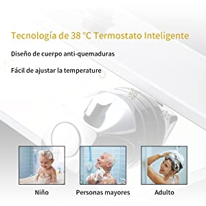 38ºC Thermostatic safety