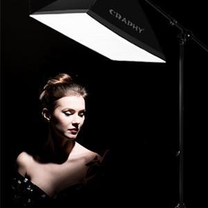 CRAPHY kit de softbox 135W iluminación de estudio fotografía