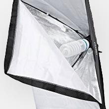 Iluminación continua para fotografía kit de softbox