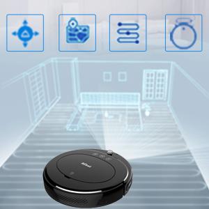 Aiibot Robot Aspirador D3 Navegación Inteligente Giroscopio Fuerte Succión 1800Pa Ventilador sin Escobillas Anti-caída Anticolisión Recarga Automática