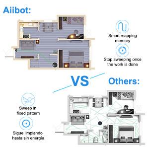 Aiibot Robot Aspirador D3 con Larga Duración,Poderosa Succión ...