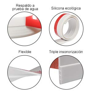 Autoadhesivo para Desmontar Puerta Tira de Goma de Puerta 100cm Burlete para Hueco de Ventana o Puerta (Negro): Amazon.es: Hogar