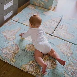 colchoneta de suelo para juego bebés