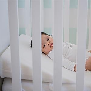 Mimuselina Cuña Antireflujo   Almohada para Cólicos Antirreflujo, Impermeable y Transportable, Favorece la Respiración del Bebé y el Ardor de las ...