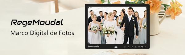 RegeMoudal 12 pulgadas marco electronico se diseña para compartir los momentos preciosos de la vida con la familia y los amigos.